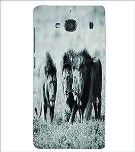 PRINTSWAG LIONS Designer Back Cover Case for XIAOMI REDMI 2 PRIME