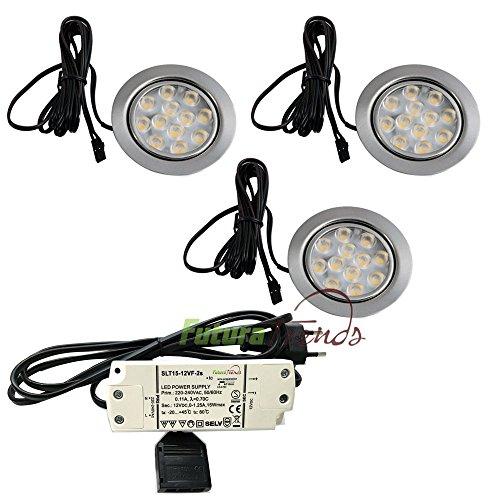 3er-Set-LED-Einbauleuchte-Mbelleuchte-Einbaustrahler-3W-HIGH-LED-SMD-WARMWEISS
