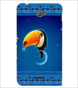 PrintDhaba Funny Image D-4136 Back Case Cover for SONY XPERIA E4 (Multi-Coloured)