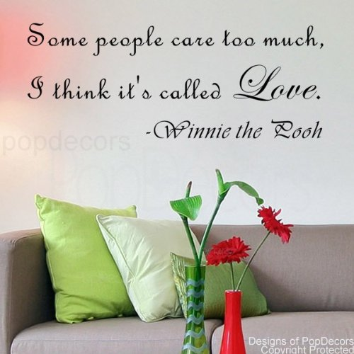 PopDecors - Some people care too much-Winnie the Pooh- words quote phrase - inspirational quote wall decals quote decals wall stickers quotes inspirational quotes decals lyrics famous quotes wall decals nursery rhyme