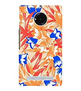 Abstract Floral Painting 3D Hard Polycarbonate Designer Back Case Cover for YU Yureka Plus