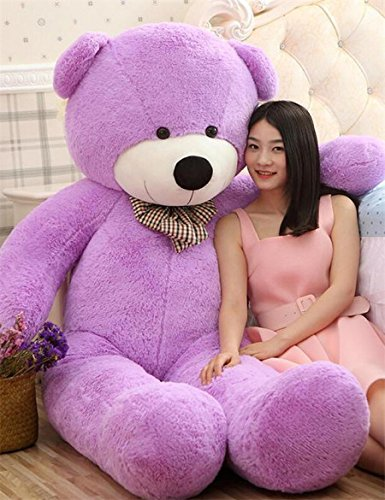VERCART 4 Foot 47 inch Purple Giant Huge Cuddly Stuffed Animals Plush Teddy Bear Toy Doll (Color: Purple, Tamaño: 47)
