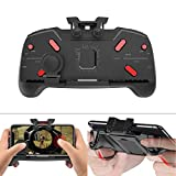 ETbotu Gaming Gamepad Joystick Mobile Phone Game Trigger Fire Button L1R1 Shooter Controller AK21 for PUBG Game Handle Holder Bracket