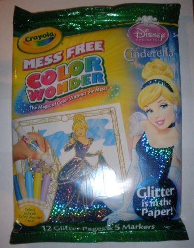 Crayola Color Wonder - Disney Princess Glitter Paper & Marke