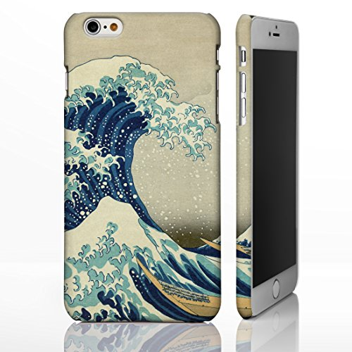 Hokusai Art Collection-Cover per iPhone, motivo: disegni, 8 cm., plastica, The Great Wave off Kanagawa - Portrait, iPhone 6