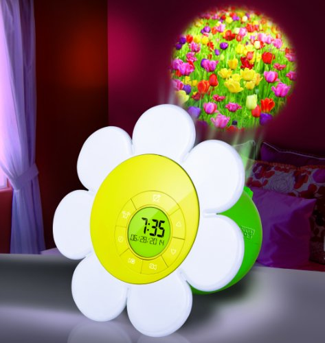 Discovery Kids Daisy Bloom Projection Alarm Clock front-624726