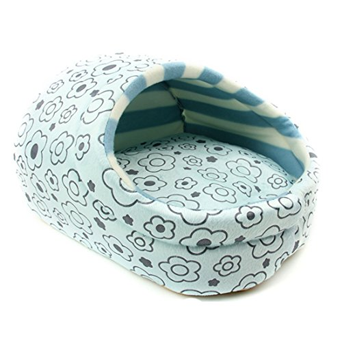 Spring-fever-Plush-Slipper-Washable-Cushion-Pet-Bed-Small-Cat-Dog-Play-House