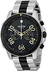 Nixon Mens Ranger Chrono Silver Black Gold Quartz Stainless Steel Casual Watch (Model- A5492194)
