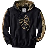 Legendary Whitetails Mens Realtree Camo Outfitter Hoodie Black/RTAP Large