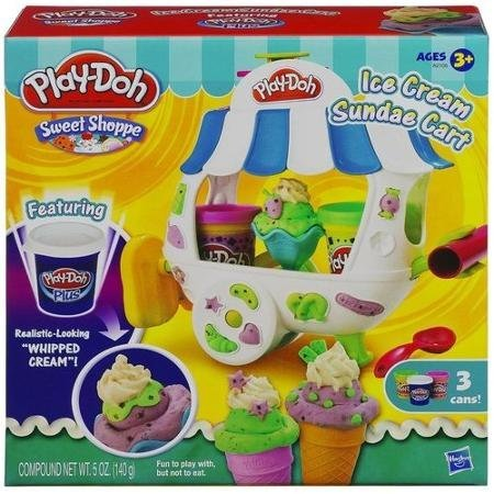 Realistic-Looking Shoppe Ice Cream Sundae Cart Play Set, Multicolor (Play Dough Scoops And Treats compare prices)