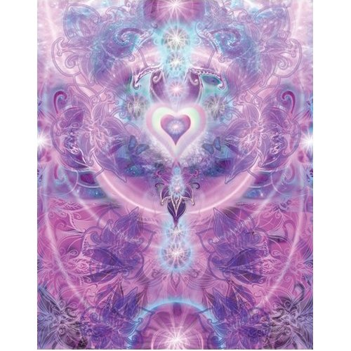 Cheap Fun Great American Puzzle Factory Violet Heart Chakra 550 Piece puzzle (B0028N6MPO)