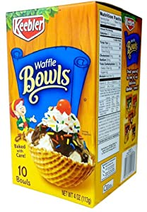 Keebler 10-Count WAFFLE BOWLS 4oz (2 Pack)