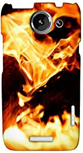 Timpax Light Weight One-piece construction Hard Back Case Cover Printed Design : A place on fire.Compatible with HTC X+ ( Plus )