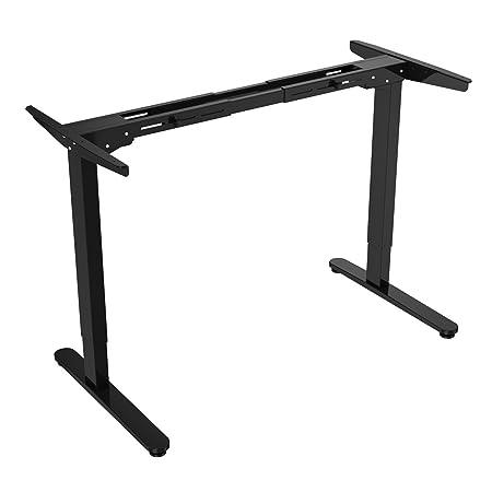 FlexiSpot E2B Altezza regolabile in altezza solo in acciaio inox Scrivania in acciaio inossidabile(nero)