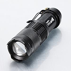 UK-DIRECT®CREE Q5 3W Led 350 Lumens mini Flashlight Zoomable Torch AA