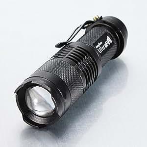 UK-DIRECT®CREE Q5 3W Led 350 Lumens mini Flashlight Zoomable Torch AA
