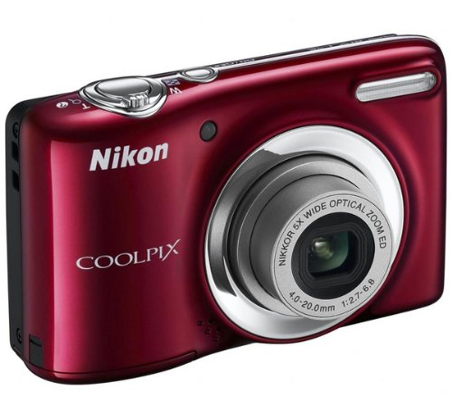 Nikon COOLPIX L25 Compact Digital Camera - Red 