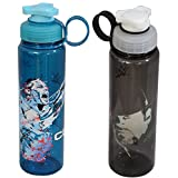 WWE Superstar John Cena And Undertaker Plastic Sipper Bottle Set, 700ml, Set Of 2, Multicolour