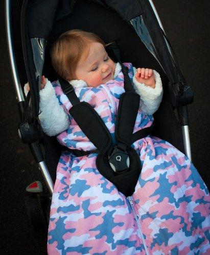 Slumbersac Travel Baby Sleeping Bag Summer Weight approx. 1 Tog - Pink Camouflagey - 110cm/12-36 months