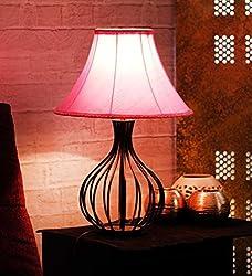 Yashasvi Iron Table Lamp - LAMP00H10 (Pink)