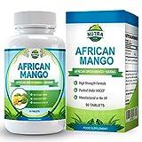 Mangue Africaine pour Perdre du Poids et Brûler les Graisses. Contrôle les niveaux de leptine pour une perte de poids rapide. Extrait de Irvingia gabonensis 6000mg, Pilules minceur coupe-faim - 90 comprimés