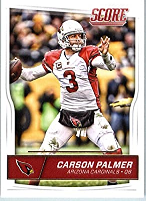2016 Score #1 Carson Palmer Arizona Cardinals Football Card in Protective Screwdown Display Case