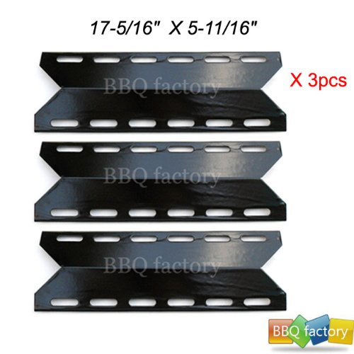 92341(3-pack) BBQ Gas Grill Porcelain Steel Heat Plate / Shield for MCM, Charmglow, Nexgrill, Perfect Flame, Perfect Glo Model grills