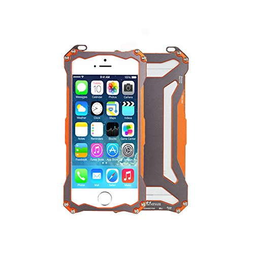 Moon Monkey Premium Ornate Armor Outdoor Sport Phone Protective Device Hard Case For Iphone 5 5S (Mm424) (Orange)