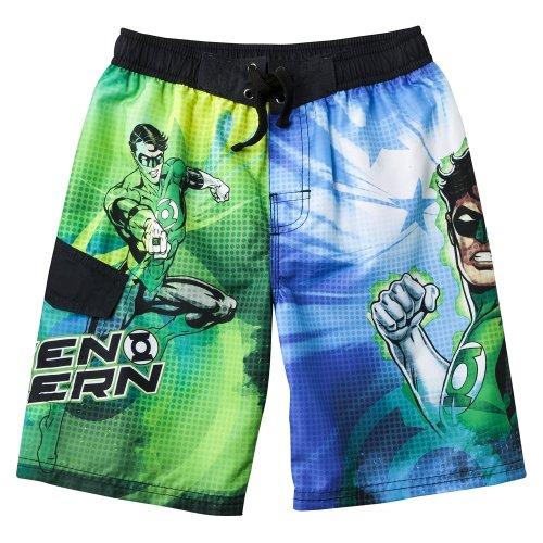 321c116bb5 Green Lantern Boys' Swimwear Swim Shorts - Green/Blue-Boys Swim Trunks