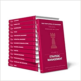 Wiley Encyclopedia Of Management (14 Volume Set )