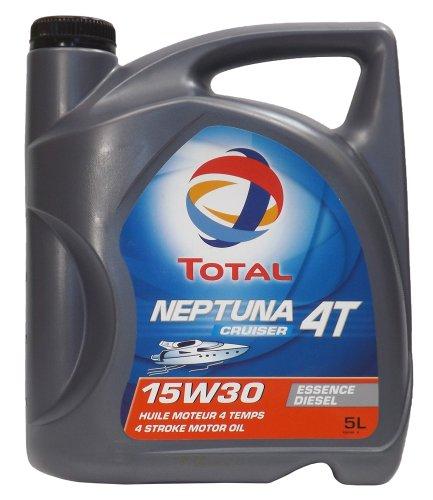 Total 802357 Neptuna Cruiser 4T 15W-30 Marine Diesel Engine Oil – 5 Liter Jug Bottle