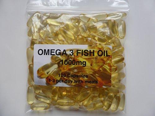 The Vitamin Omega 3 Fish Oil 1000mg (120 Capsules - Bagged)