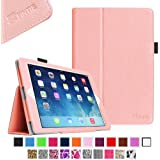 iPad mini Case - Fintie iPad mini 3 / iPad mini 2 / iPad mini Folio Slim Fit Vegan Leather Case with Smart Cover Auto Sleep / Wake Feature, Pink