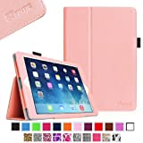 Fintie Slim Fit Leather Folio Case Smart Cover with Auto Sleep/Wake Feature for Apple iPad Mini (Retina Display) - Pink