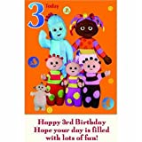 Jumbo Age 3 In the Night Garden Birthday Card 10 x 8""
