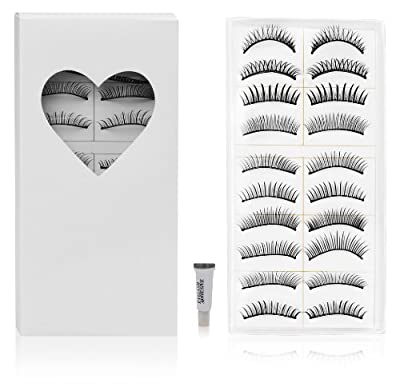 Best Cheap Deal for SHANY Cosmetics 10 Pairs of Different Reusable Natural Long False Eyelashes with Free Glue - Set#1 by SHANY Cosmetics - Free 2 Day Shipping Available