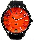[ミッシェルジョルダン]michel Jurdain 腕時計 スポーツ 1Pダイヤモンド ビックフェイス シリコンウォッチ ブラック×オレンジ MJ-7700-7 メンズ