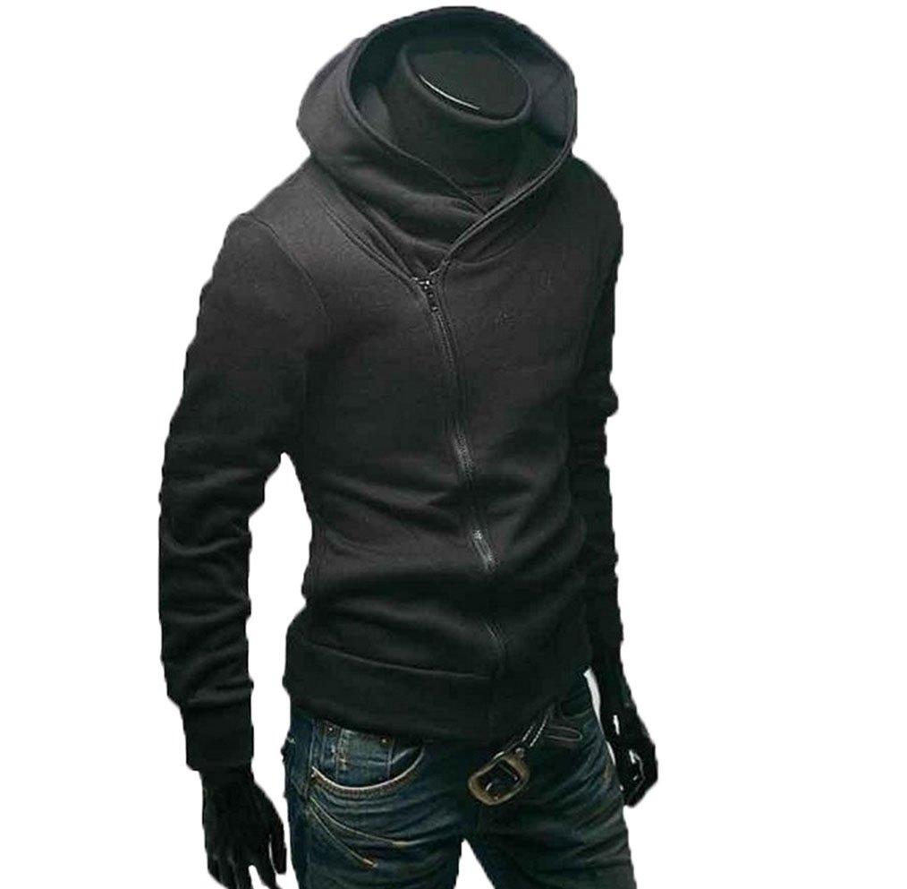 Gaorui High Collar Men's Jacket Slim Dust Coat Hoodie Clothes Sweater Overcoat