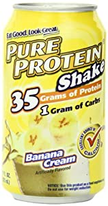 Pure Protein Ready to Drink Shake 35 Grams Protein, Banana Creme (Pack of 12)