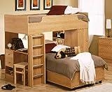 Herbert Oak Youth Loft Bed - 400087-88 - Coaster Furniture