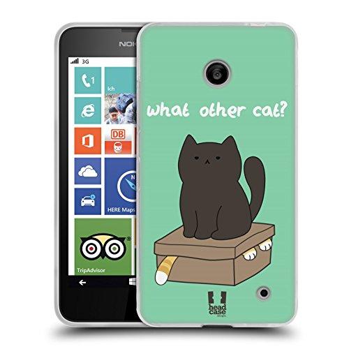 Head Case Designs What Other Cat Ceiling Cat Vs Basement Cat Back Case Cover in Silicone per Nokia Lumia 630 Dual SIM 630 635