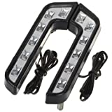 Zone Tech luxury Super White Car Daytime Running Light 6 LED Fog Light