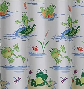 Amazon.com - Frog Mania Bath Accessories, Shower Curtain - Bath Rugs