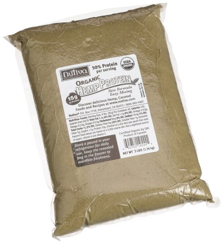 Nutiva Organic Hemp Protein 50% Protein Per Serving, 3-Pound Bag