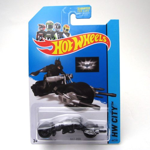 Bat-Pod '14 Hot Wheels 64/250 (Silver) Vehicle