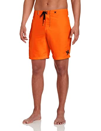 Hurley Men's One and Only 19 Inch Boardshort, Neon Orange, 32x19