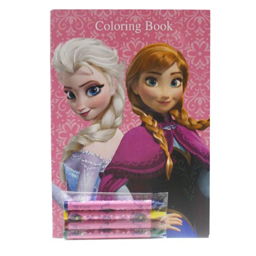 Disney Frozen Coloring Books Blue And Pink Elsa Anna 2