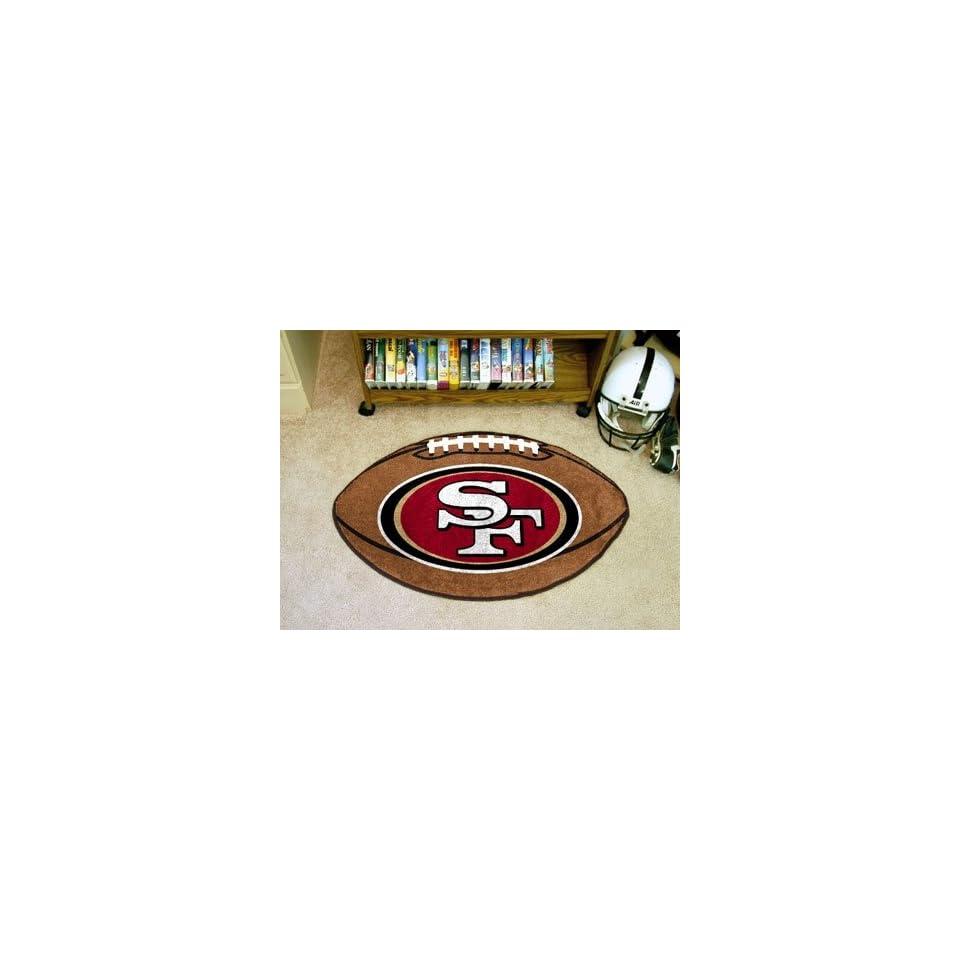 NFL San Francisco 49ers   FOOTBALL AREA RUG (22x35)