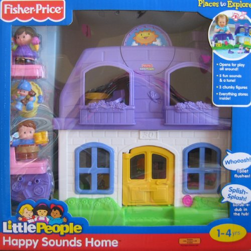 Little People Happy Sounds Home W Sounds 3 Figures Fisher Price