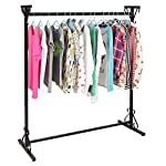 Professional 4-Ft Long Victorian Scrollwork Vintage Black Iron Clothing Hanger / Garment Rack - MyGift®